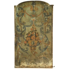 17th Century Venetian Double Sided Oil Painting Door