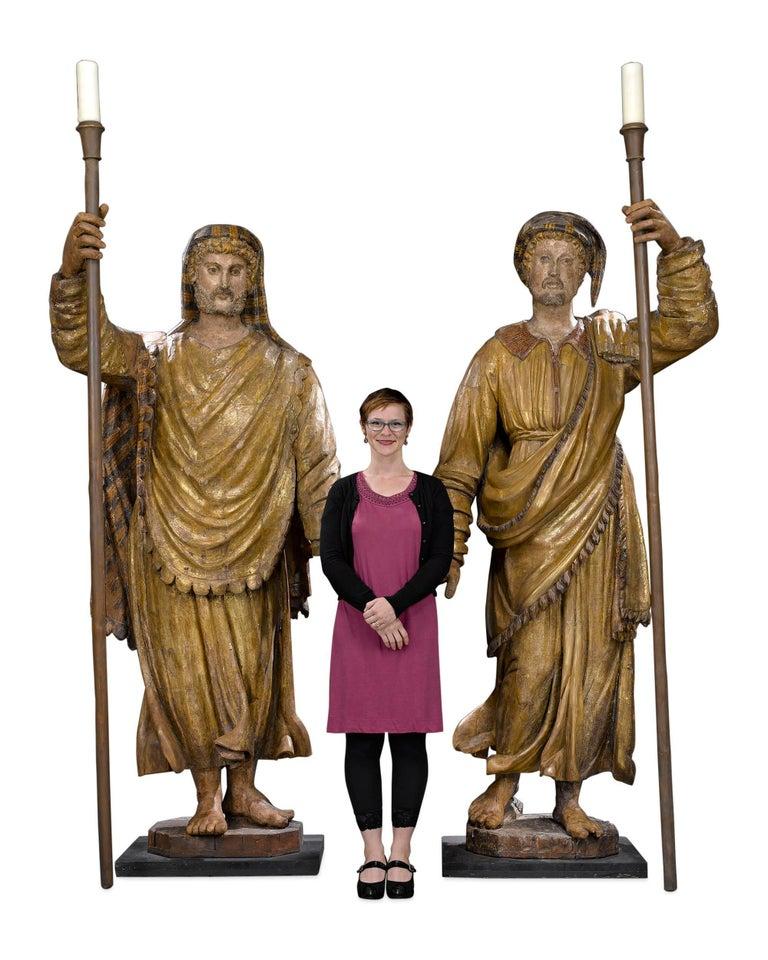 Renaissance 17th Century Venetian Figural Torchères For Sale