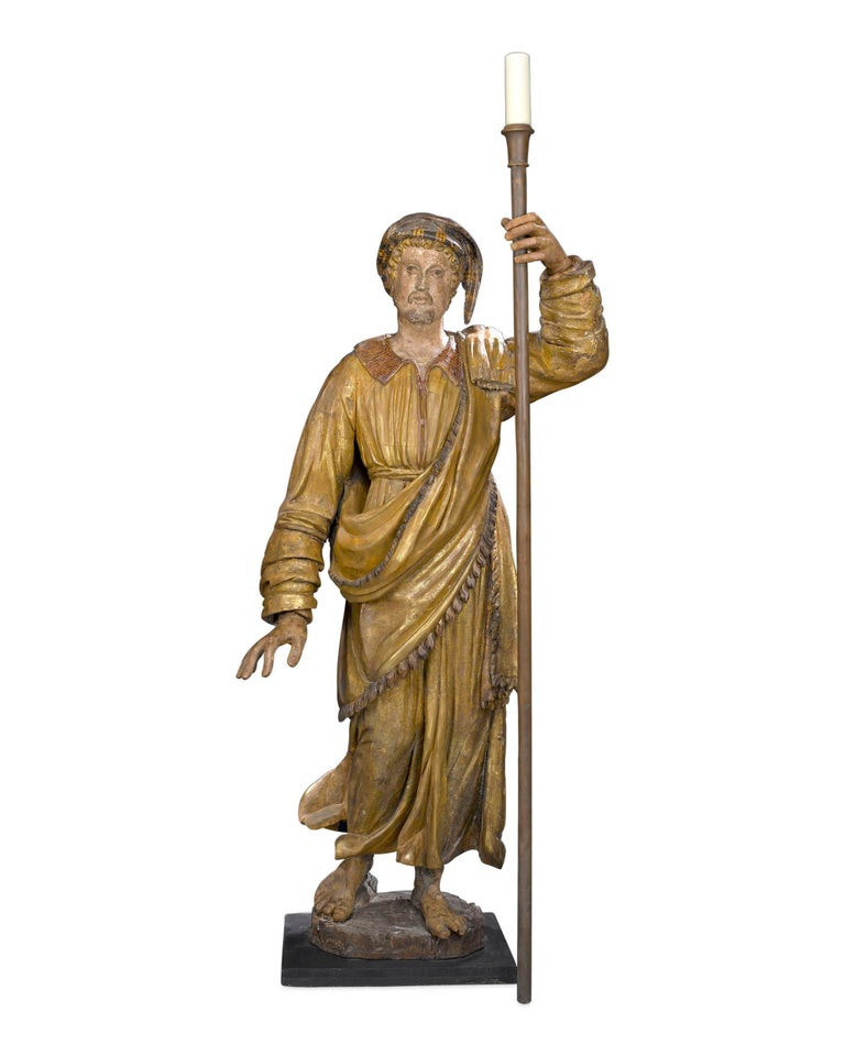 17th Century Venetian Figural Torchères In Excellent Condition For Sale In New Orleans, LA