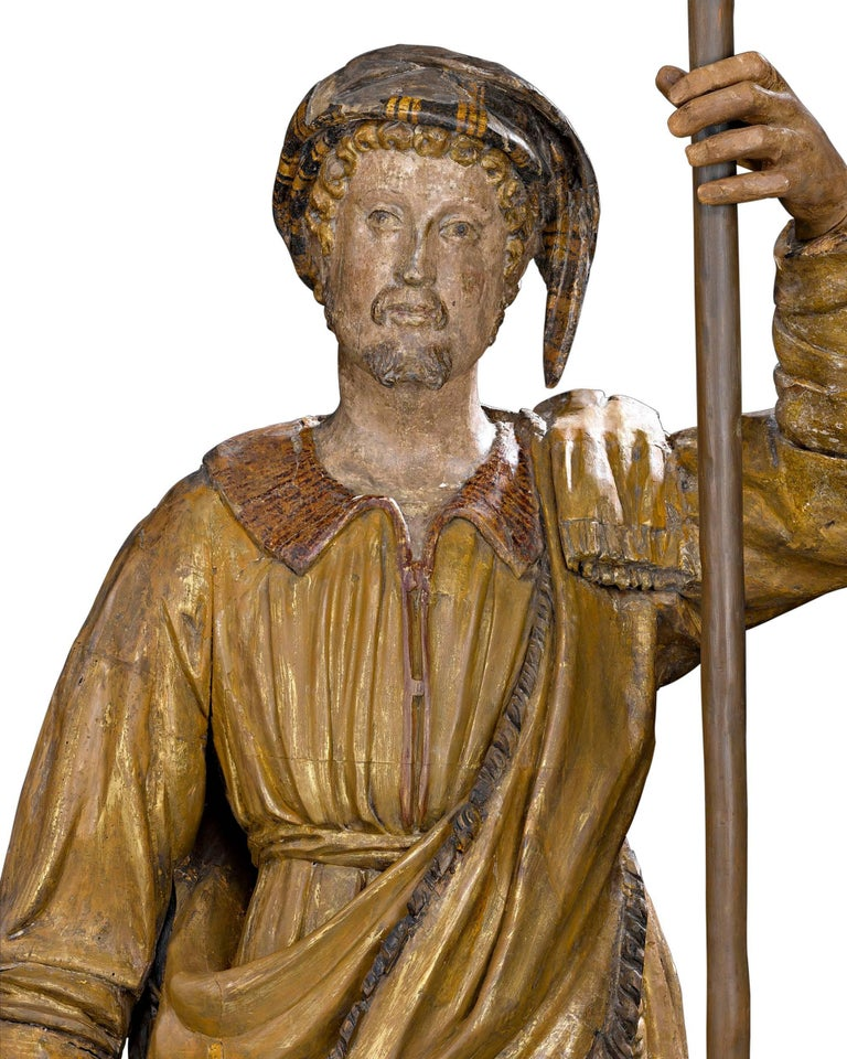 Wood 17th Century Venetian Figural Torchères For Sale