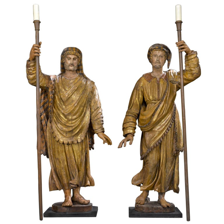 17th Century Venetian Figural Torchères For Sale
