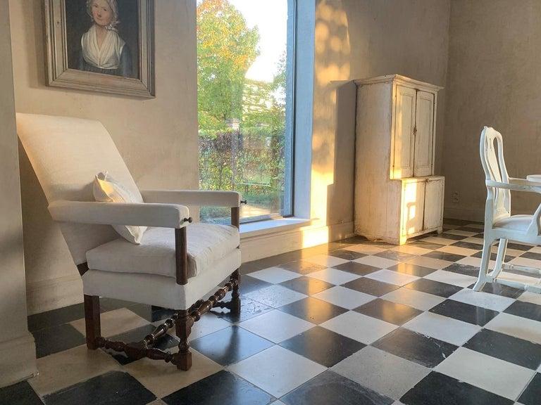 Louis XIII 17th Century Walnut Armchair For Sale