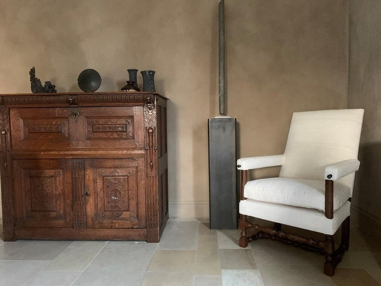 17th Century Walnut Armchair In Fair Condition For Sale In Vosselaar, BE
