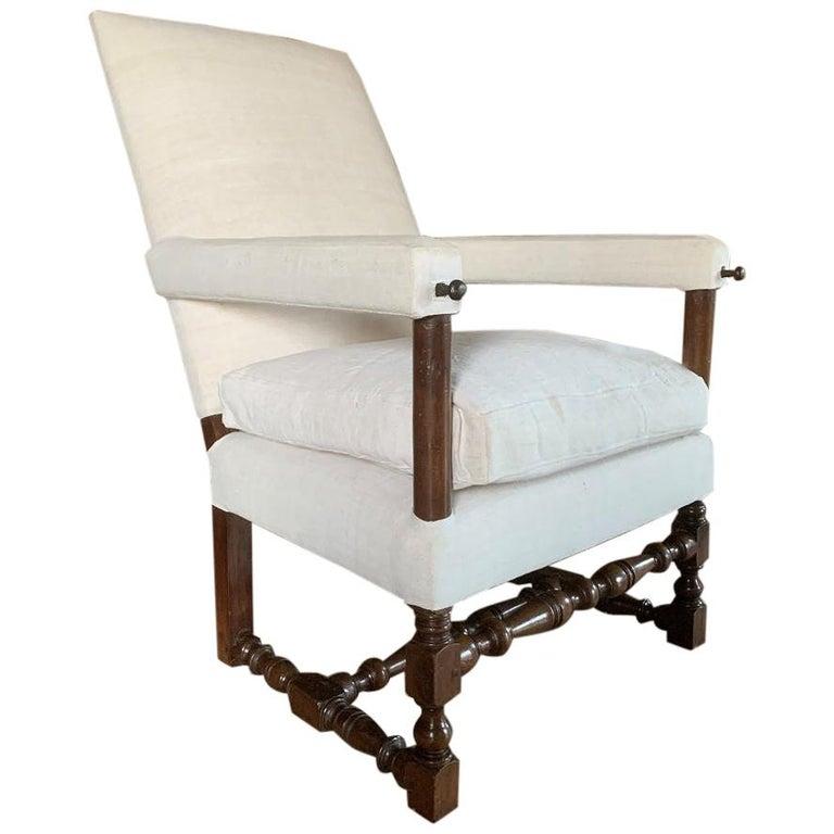 17th Century Walnut Armchair For Sale