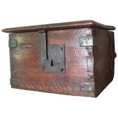 17th Century Walnut Offering Box