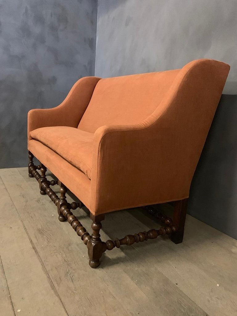 Louis XIII 17th Century Walnut Sofa For Sale