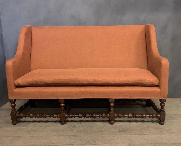 French 17th Century Walnut Sofa For Sale