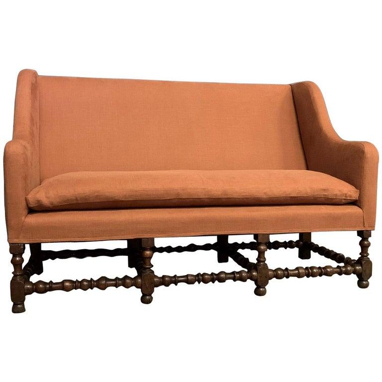 17th Century Walnut Sofa For Sale