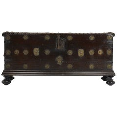 17th Century Walnut Spanish Trunk