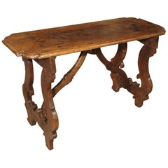 17th Century Walnut Wood Table from the Lombardy Region of Italy