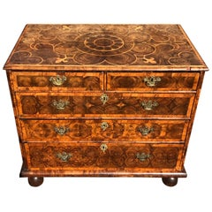17th Century William & Mary Oyster Laburnum and Walnut Chest