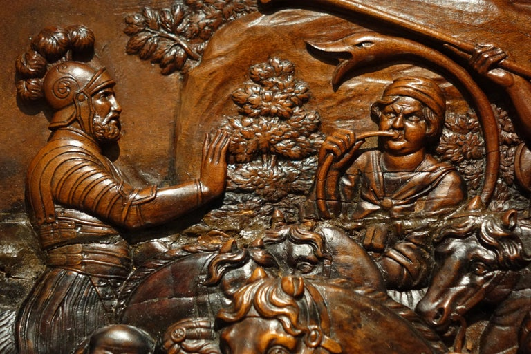 17th Century Wood Panel Sculpture Carved in Low Relief, Italy or France For Sale 2