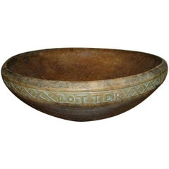 17th Century Wooden Bowl, Sweden
