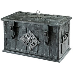 17th century wrought iron 'Armada' chest
