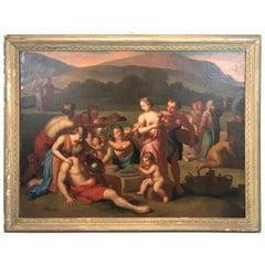 17th Century Dutch School Biblical Scene, Worship of the Golden Calf