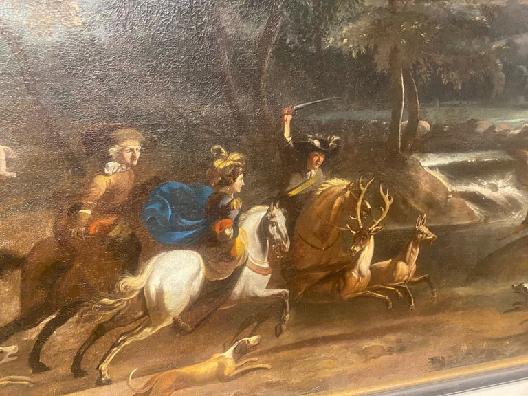 17th-Early 18th Century Dutch Hunt Scene  For Sale 6