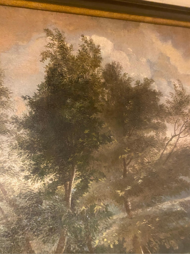 Canvas 17th-Early 18th Century Dutch Hunt Scene  For Sale