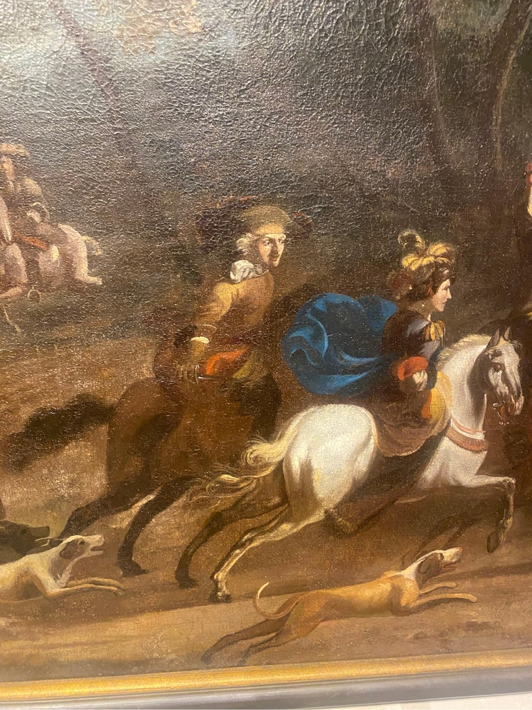 17th-Early 18th Century Dutch Hunt Scene  For Sale 1
