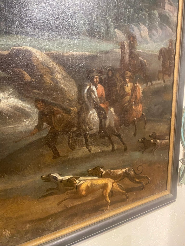 17th-Early 18th Century Dutch Hunt Scene  For Sale 2