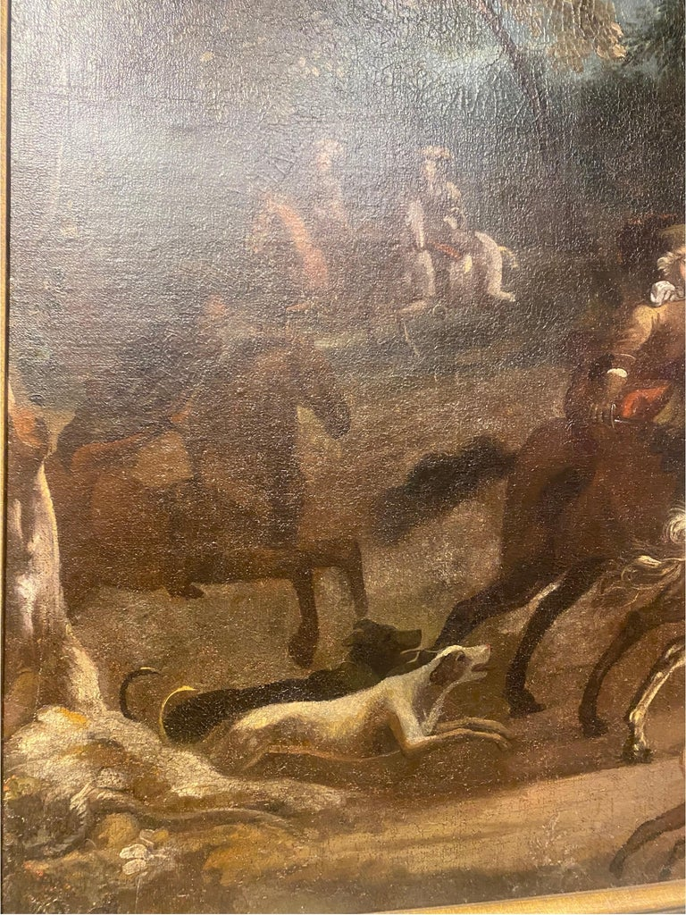 17th-Early 18th Century Dutch Hunt Scene  For Sale 4
