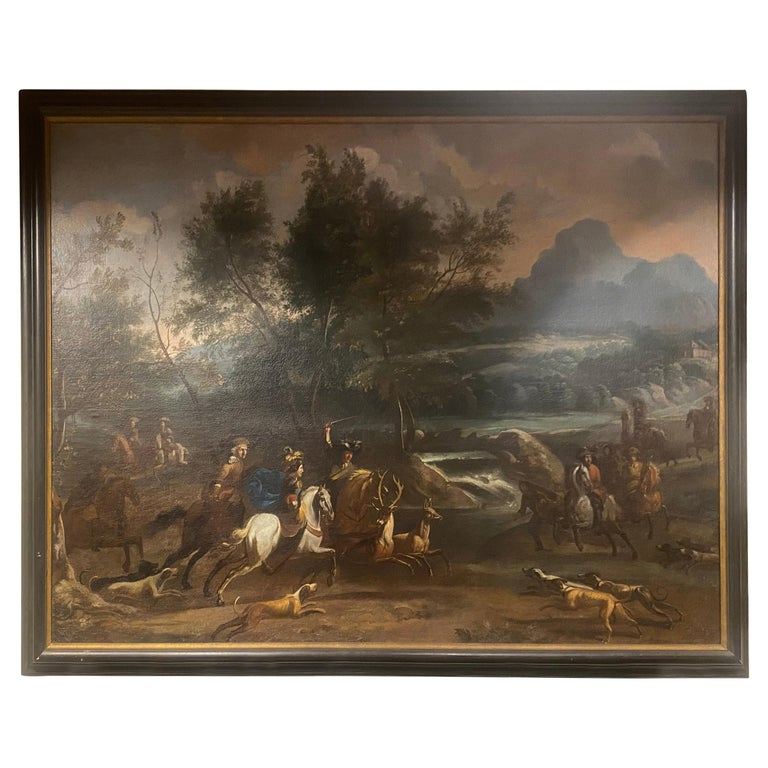 17th-Early 18th Century Dutch Hunt Scene  For Sale