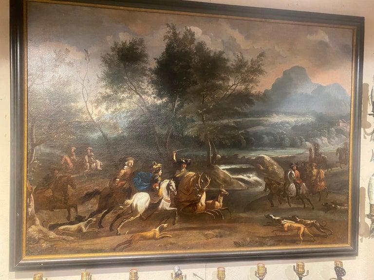 17th-early 18th century Dutch hunt scene.