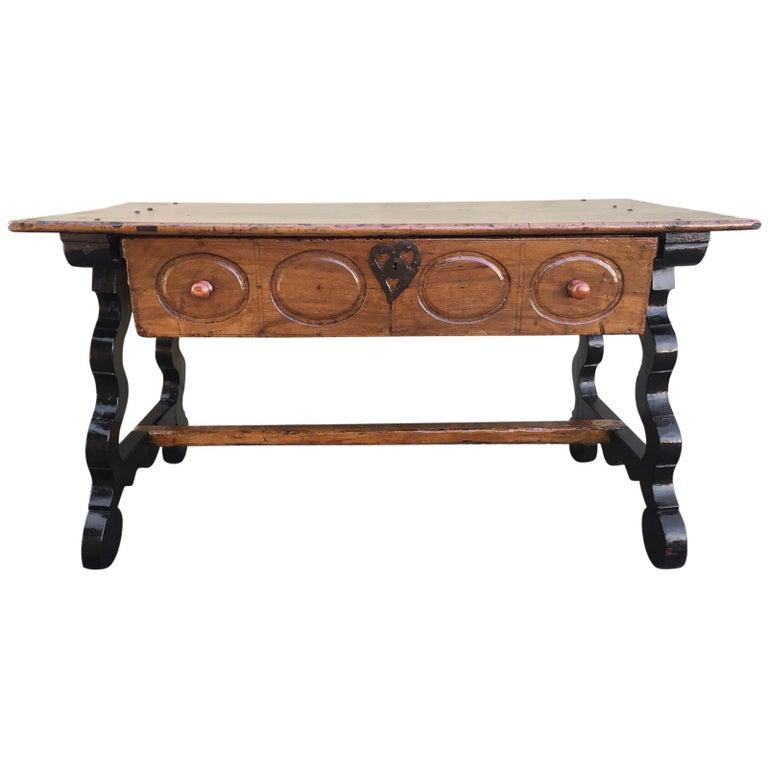 17 Spanische Refektorium Tisch Schreibtisch Eine Große Schublade