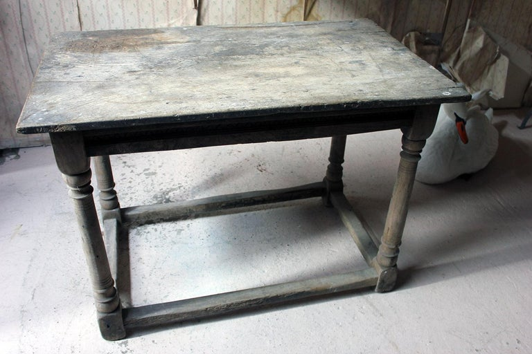 17th Century Dry Oak Charles II Period Side Table, circa 1680 For Sale 12