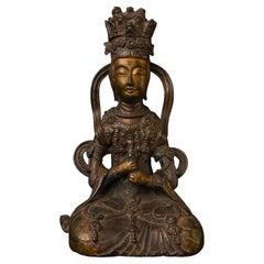 18/19thc Possibly as Early as 15thc, Korean Bronze Bodhisattva Vairocana, 5828