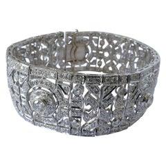 18 Carat Art Deco Style Multi High Level Diamond Bracelet