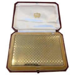 18 Carat Cartier Gold Case with Sapphire Clasp in Original Fitted Box