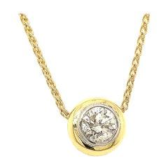 1.8 Carat Diamond and 18 Karat Gold Platinum Necklace