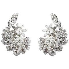 18 Carat Diamond Cluster Earrings