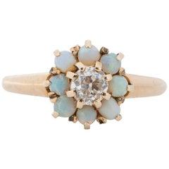 .18 Carat Edwardian 14 Karat Yellow Gold Diamond Engagement Ring