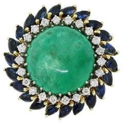 18 Carat Emerald Cabochon Ring