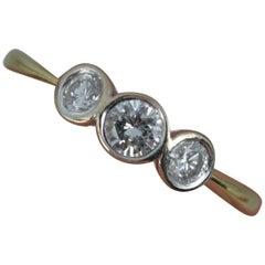 18 Carat Gold and 0.33 Carat Diamond Trilogy Ring
