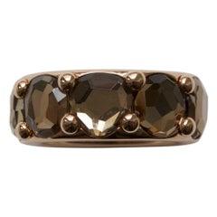 18 Carat Gold and Quartz Pomellato Ring Model Narciso