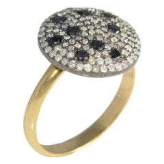 18 Carat Gold and Silver Diamond Ring