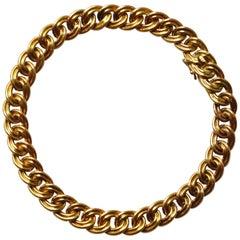 18 Carat Gold Double Curb Bracelet
