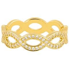 18k Carat Gold Infinity Ring