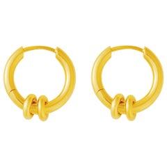 18 Carat Gold Knot Earrings