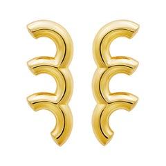 18 Carat Gold  Leap Earring