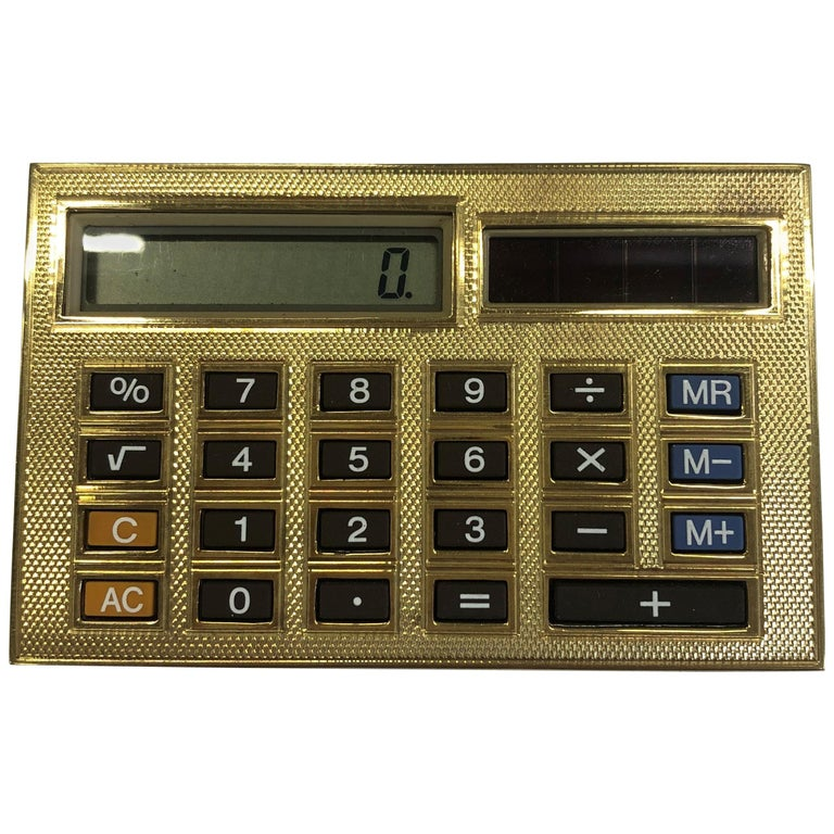 Deakin & Francis 18 Karat Gold Limited Edition Luxury Calculator For Sale