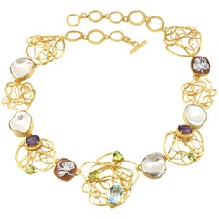18 Carat Gold-Plated 925 Sterling Silver Sea Shell Cameos Necklace