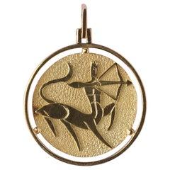 18 Carat Gold Saggitarius Pendant