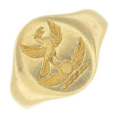 18 Carat Gold Signet Ring