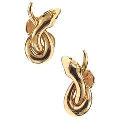 18 Carat Rose Gold Black Diamond Stud Earrings