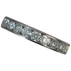 18 Carat White Gold 1.00 Carat Diamond Stack Half Eternity Ring