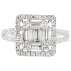 18 Carat White Gold 1.23 Carat Diamonds Total Weight