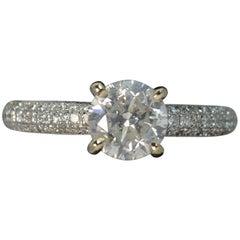 18 Carat White Gold 1.50 Carat Diamond Engagement Ring